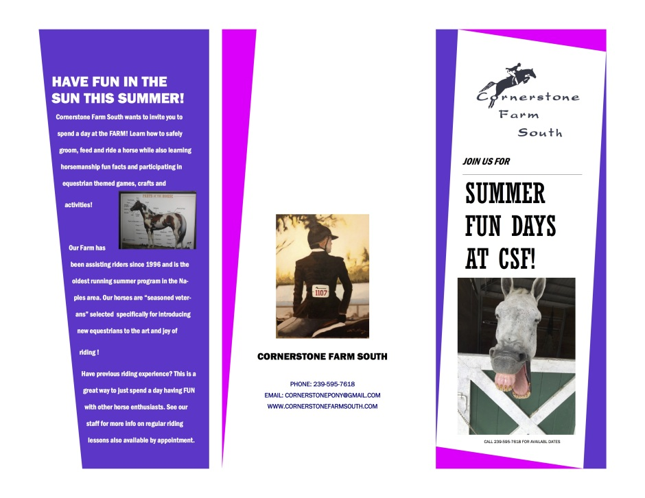 CSsummer fun days brochure2017pg1